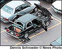 Dylan Klebold's car bomb detonated late