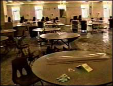 Inside Columbine High School's cafeteria