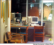 Columbine's destroyed computer lab