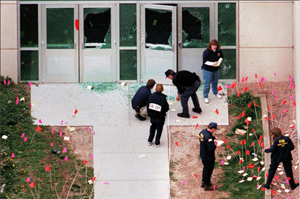 Columbine High's west student entrance