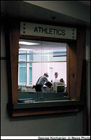 Athletics department office under repairs
